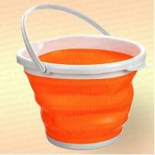 Складное ведро для рыбалки, 5 литров, цвет оранжевый