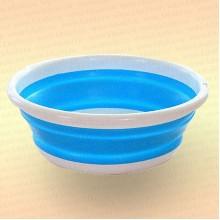 Складной таз для рыбалки, цвет голубой