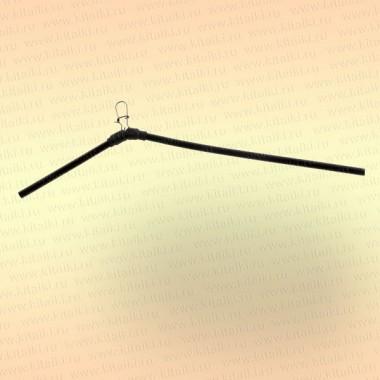 Антизакручиватель несимметричный, черный, пластик