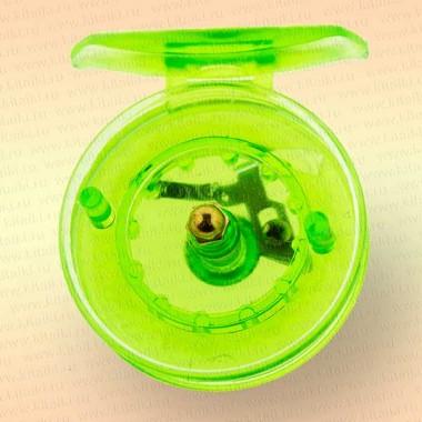 Катушка для зимней удочки зеленая, диаметр 55 мм