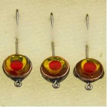 Мормышка металлическая, паяная № 29-ПЛ, крючок 8, желто-оранжевая