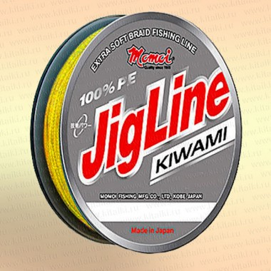 Плетенка JigLine Kiwami 125 м, цвет - желтый 0,30 мм тест 24 кг