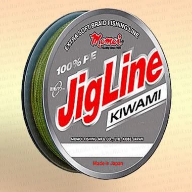 Плетенка JigLine Kiwami 125 м, цвет - хаки 0,45 мм тест 55 кг
