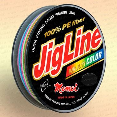 Плетенка JigLine Multicolor 100 м, 5 цветов по 10 м 0,18 мм тест 14 кг