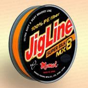 Плетенка JigLine MX8 Super Silk 150 м, оранж., 0,19 мм тест 16 кг