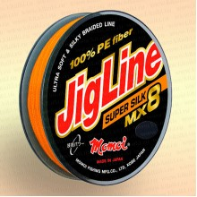 Плетенка JigLine MX8 Super Silk 100 м, оранж., 0,06 мм тест 5,4 кг