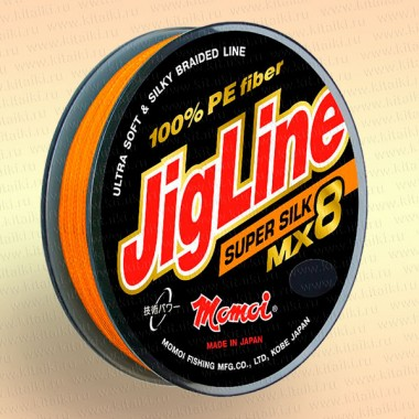 Плетенка JigLine MX8 Super Silk 100 м, оранж., 0,33 мм тест 30 кг