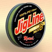 Плетенка JigLine Premium WX8 100 м, хаки 0,27 мм тест 23 кг
