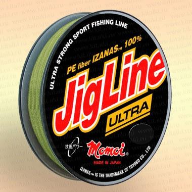 Плетенка JigLine Ultra PE 100 м, цвет - хаки диаметр 0,08 мм тест 5,6 кг
