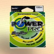 Плетенка Power Pro, 90 метров, цвет - зеленый диаметр 0,50 мм тест 59,0 кг