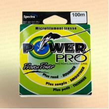 Плетенка Power Pro, 90 метров, цвет - зеленый диаметр 0,10 мм тест 2,0 кг