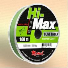 Леска рыболовная Hi-Max Olive Green, оливковая, 100 м 0,11 мм тест 1,2 кг