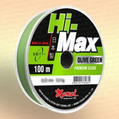 Леска рыболовная Hi-Max Olive Green, оливковая, 100 м 0,16 мм тест 2,9 кг