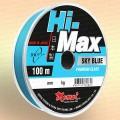 Леска рыболовная Hi-Max, оливковая и голубая 100 м