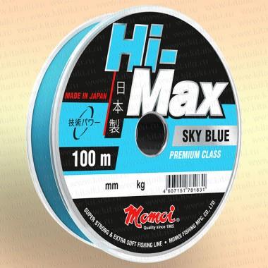 Леска рыболовная Hi-Max Sky Blue, голубая, 100 м 0,50 мм тест 23 кг