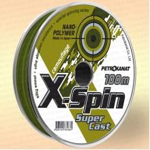 Леска X-SPIN Camouflage, нанополимер, 100 м 0,20 мм тест 4,0 кг