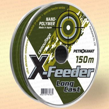 Леска X-FEEDER, нанополимер, камуфляж 150 м 0,25 мм тест 5,5 кг