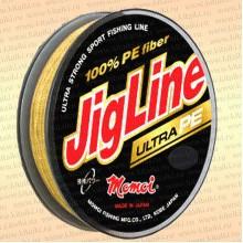 Плетенка JigLine Ultra PE 100 м, желтый 0,05 мм тест 4 кг