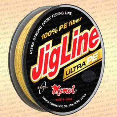 Плетенка JigLine Ultra PE 100 м, желтый 0,24 мм тест 18 кг