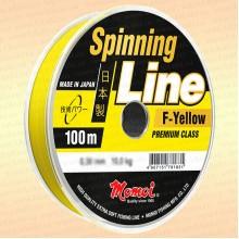 Леска для спиннинга Spinning Line, желтая, 100 м 0,11 мм тест 1,3 кг