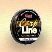 Леска рыболовная Carp Line, коричневая, 150 м 0,17 мм тест 3,5 кг