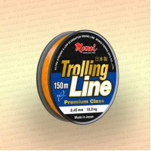Леска рыболовная Trolling Line, оранжевая, 150 м 0,33 мм тест 11 кг