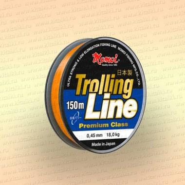 Леска рыболовная Trolling Line, оранжевая, 150 м 0,31 мм тест 9,5 кг