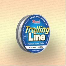 Леска рыболовная Trolling Line, прозрачная, 150 м 0,33 мм тест 11 кг