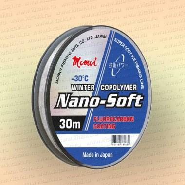 Леска рыболовная зимняя Nano-Soft Winter, 30 м, прозрачная, 0,105 мм, тест 1,2 кг