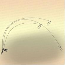 Вольфрамовые поводки тест 10 кг (уп. 3 шт)