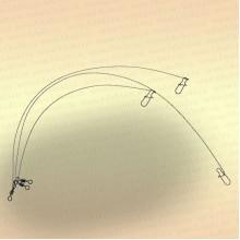Вольфрамовые поводки тест 9 кг (уп. 3 шт)