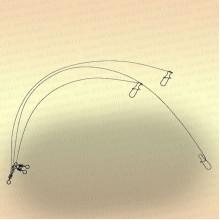 Вольфрамовые поводки тест 12 кг (уп. 3 шт)