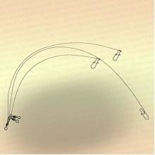 Вольфрамовые поводки тест 20 кг (уп. 3 шт)