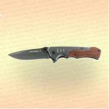 """Нож туристический """"Следопыт"""" деревянная ручка, дл. клинка 100 мм, в чехле"""