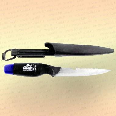 """Нож разделочный """"Следопыт"""" нетонущий, дл. клинка 135 мм, в чехле"""