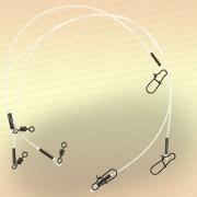 Поводки флюрокарбоновые тест 11 кг (уп 3 шт)