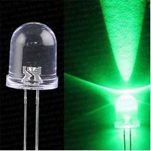 Светодиод для рыболовной торпеды 5 мм, зеленый свет, супер яркий 20000 мкд LED