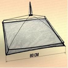 Подъемник для малька, зимний с пружиной; сторона 0,8 м по краям сетки