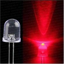Светодиод для рыболовной торпеды 5 мм, красный свет, супер яркий 20000 мкд LED