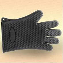 Перчатка для чистки рыбы, силиконовая, черная