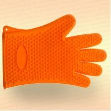 Перчатка для чистки рыбы, силиконовая, оранжевая