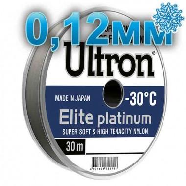 Леска рыболовная Ultron Elite Platinum, 0,12 мм, тест 1,7 кг, 30 м
