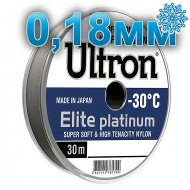 Леска рыболовная Ultron Elite Platinum, 0,18 мм, тест 4,0 кг, 30 м