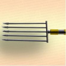 Инструмент для очистки водоема 2D зуб - 5 мм, 5 зубьев