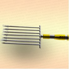 Инструмент для очистки водоема 2D зуб - 5 мм, 7 зубьев