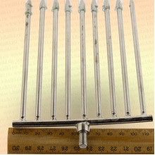 Инструмент для очистки водоема 2D зуб - 5 мм, 9 зубьев