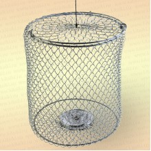 Кормушка 2 л металлическая сетка, оцинкованная, огруженная (h=20 см, d=155 мм)