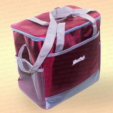 Сумка холодильник, цвет - бордовый, 18 л, 30х20х28 см