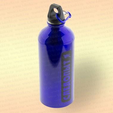 Бутылка питьевая с карабином, 400 мл