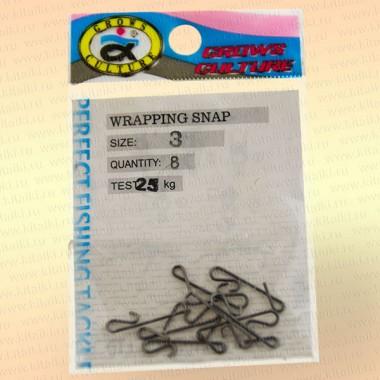 Безузловая застежка Wrapping Snap, номер 3, тест 25 кг